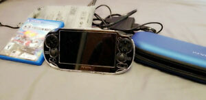 PS Vita + 22 games with Memory Card 64GB and 2 cases