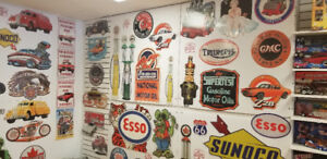 """Retro """"Man-Cave"""" Signs & Collectable Die-cast"""