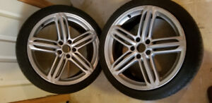 Audi S4 OEM Peelers 19x8.5 with tires set of 4