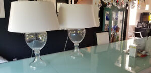 2 Glass Table Lamp