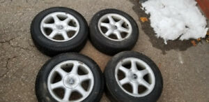 Snow tires and rims (Pirelli) from Volvo s60