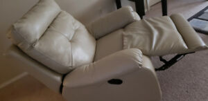 Recliner rocking leather chair