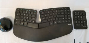 Ergonomic Keyboard, mouse and numberpad