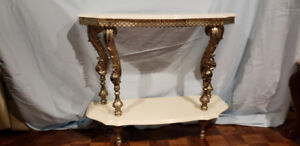 Antique Gold Carved Table (French/Italian Style) Hall/Half Table