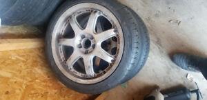 3 set de pneus/ mags volkswagen 195/65r15