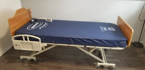 2015 mechanical bed with controls and mattress