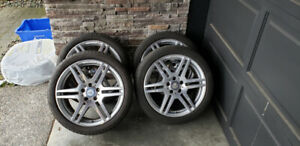 AMG Rims with Summer Tires