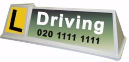 Magnetic Roof Sign, Taxi Sign, Driving School Sign, Pizza Sign