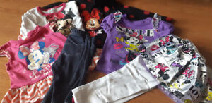 Girls superhero and Disney clothes size 12 to 24 months