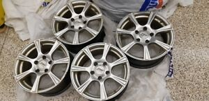 16 INCH ALLOY WHEELS 5X120MM-72MM CTR. BORE-VERY GOOD CONDITION