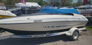 1990 Glastron Carlton boat with trailer. 4.3L MerCruiser