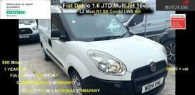 2014 Fiat Doblo 1.6 JTD MultiJet 16v L2 Maxi N1 SX Combi LWB 4dr - 1 OWNER, FSH,