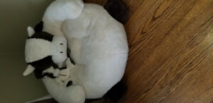 Restoration Hardware kids childs plush chair and matching toy.