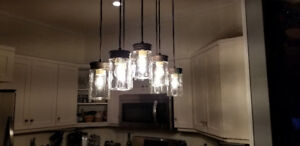 Ceiling lighting - Mason Jar style - good for kitchen or dining