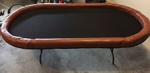 8' x 4' poker table with padded rail