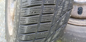 Two 215/60R/16 winter tires on rims. Must go! $30.