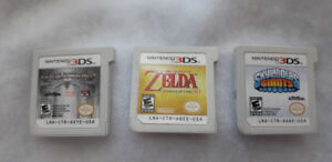 3DS games - Skylander Giants, Spiderman 2, Zelda Ocarina of Time