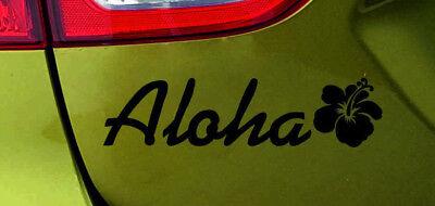 AU 301 - Aloha Hibiscus Blume Aufkleber Autoaufkleber Sticker