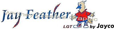 "Jayco ""JAY FEATHER"" Decal Vinyl Rv Trailer Decal Graphic Sticker Logo 49.5""X13"""