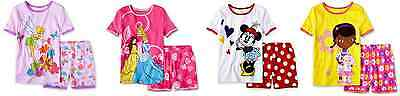 GIRLS DISNEY PAJAMA SETS, MULTIPLE CHARACTERS, SHORT SLEEVE/SHORTS NEW WITH TAGS