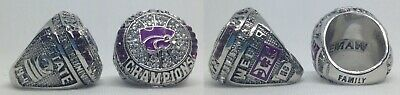 2019 K-State Big 12 Basketball Champs REPLICA Ring WEBER Size 10 *SHIPS -