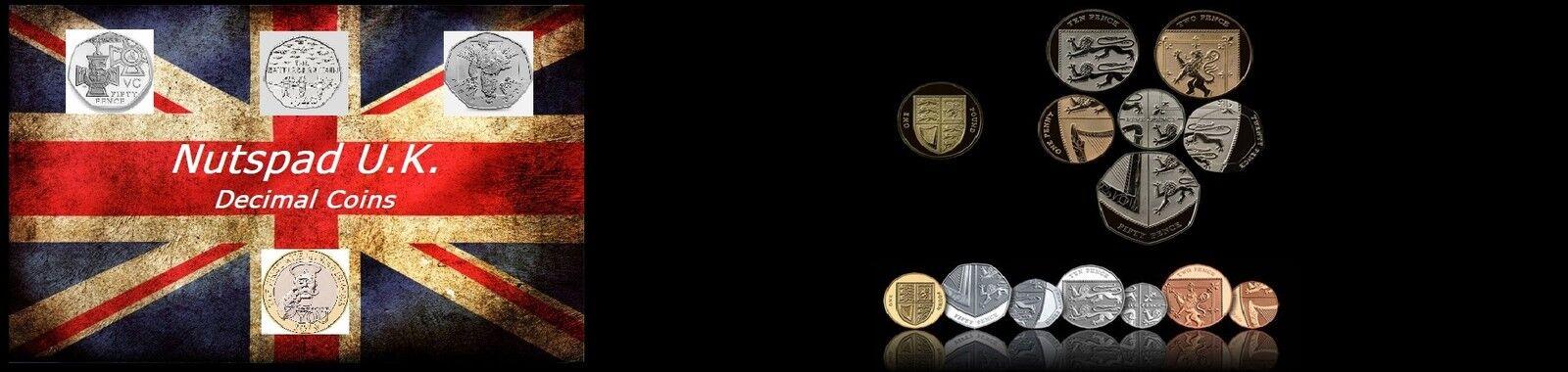 Nutspads U.K. Decimal Coins & Bits.