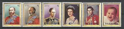 Barbuda 1984 678-83 ** Roi Édouard VII George V VI Elizabeth II Charles  William