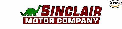 Sinclair Oil Motor Gas Vintage Long Decal Diecut Sticker 4 Stickers