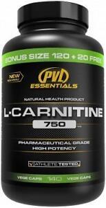 PVL ESSENTIALS L-CARNITINE 750, 180 VEGGE CAPS