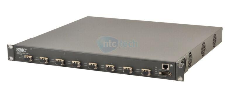 SMC TigerSwitch 10G 8708L2 8-port 10G XFP Switch 8x FTLX8511D3-HC SR Modules