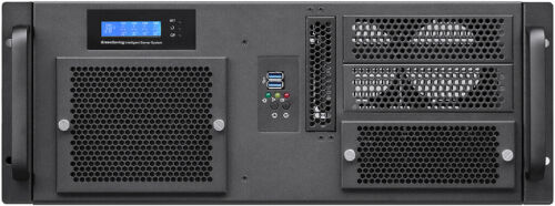 "4U LCD 24""Rail(2x5.25""+2xHD)Rackmount Chassis(Redundant PS OK)(D:11.81""Case) NEW"
