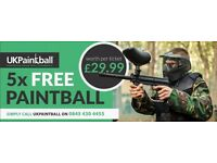 Paintball Tickets x5