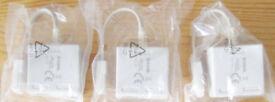 Job Lot of 3 New D-Link DSL-35MF ADSL Splitters Microfilters.