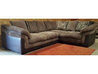 Corner Sofa - Brown. Can deliver