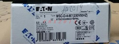 ONE NEW EATON MOELLER Motor starter MSC-D-4-M7 230V 50 60HZ