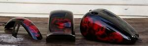 Candy Red Skulls and Smoke Harley Davidson Custom Paint Set -Tins Otago Clarence Area Preview