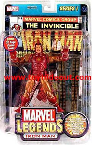 MARVEL LEGENDS TOYBIZ SERIES 1 IRON MAN ACTION FIGURE GOLD VARIANT AVENGERS NEW