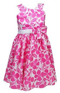 M&S AUTOGRAPH GIRLS FLOWER PARTY SUMMER DRESS 2 3 4 5 6 ORANGE PINK BARGAIN