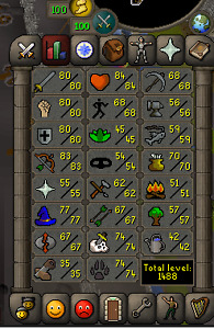 Old School Runescape Account (OSRS) - 1488 Skill Total - 188 QP