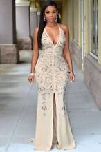 Nude Jewelled Evening Party Dress With Slit Size 8 Ascot Brisbane North East Preview