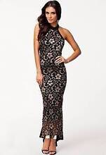 Black & Gold Lace Fishtail Evening Party Dress Size 6/8 Ascot Brisbane North East Preview