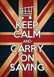 keep calm and carry on saving