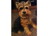 Yorkie dog statue
