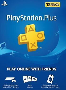 PlayStation Plus 1 Year Subscription Membership Card (DIGITAL CODE) (email)