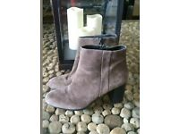 PHASE EIGHT LADIES SZE 7 UK  KHAKI SUEDE ANKLE BOOTS  IMMACULATE ONLY WORN ONCE  Rrp 95.00