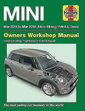 HAYNES REPAIR MANUAL MINI Mar 2014 to Mar 2018 (14 to 18 reg) PETROL DIESEL