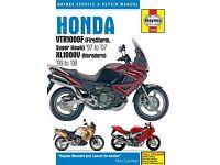 Haynes Repair Manual Honda VTR1000F (FireStorm, Super Hawk) (97 - 07) & XL1000V (Varadero)
