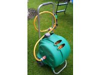 Hozelock mobile hose reel with 25m hose