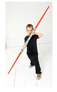 BNIB Star Wars Extendable Double-Bladed Lightsaber Darth Maul Q2UH#