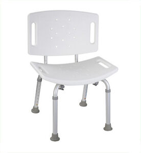 Shower Chair with Big Back / Siege de Baiganoire - NEW